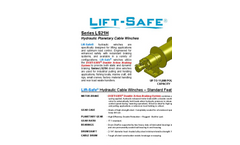 Lift-Safe - Model Series LS21 - Hydraulic Planetary Cable Winches - Datasheet