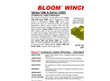 Bloom - Model Series 1200 - Hydraulic Cable Winches