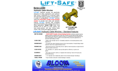 Lift-Saf - Model Series LS8 - Hydraulic Cable Winches - Datasheet