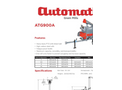 Automatic - Model ATG900A - Auger Discharge for Large Capacity PTO Trailer Mills - Datasheet