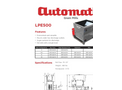 Automatic Mfg. Co. - Model LPE500 - Low Profile Electric Mills - Datasheet