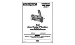 BercoMac - Model 700465-3 - Electric Lift Snowblower 40` Compact - Manual