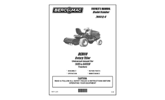 Bercomac - 30 Inch Rotary Tiller for Lawn and Garden Tractors - Manual