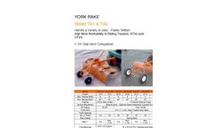 Model TA14B - 4` York Rake Brochure