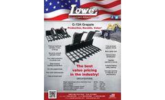 Lowe - Model G-72A - Grapple - Datasheet