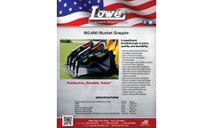 Lowe - Model BG-600 - Bucket Grapple - Datasheet