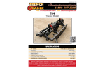 Trench Grader - Model T84 - Hydraulic Vibratory Compaction Wheel Brochure