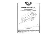 Millcreek - Model 27 + - Compact Manure Spreaders Manual