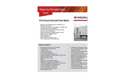 Enginuity Portable Grid - CQ-800 - Sound Attenuated Power Module Brochure