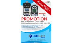 CitiSafe is pleased to announce a special promotional offer on RAE Systems.