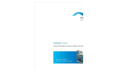 Memsys - Model MDS 500 - Membrane Distillation Unit - Brochure