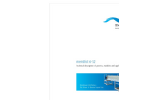 Memsys - Model MDS 1000 - Membrane Distillation Unit - Brochure