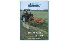 Abimac - Model 4.4 S - Single Rotor Rotary Rake - Brochure