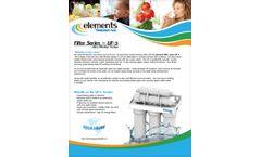 Aqua Sure - Model Filter Series - UF-5 - Reverse Osmosis (RO) Systems - Brochure