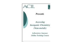 Assessing Inorganic Chemistry (Non-metals) Brochure