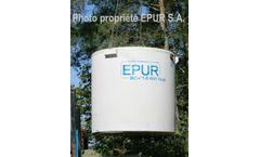 Epuro - Model BIO+ fibré / Biopur fibré - Fiber Concrete Tanks