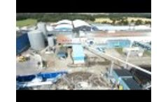 A Drone Flies Over the Factory Fiskeby - Video