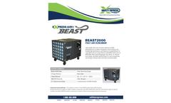 Express - Model 2000 CFM - Air Beast Poly Neg Air Machine - Datasheet