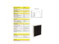 Albasolar - 15, 25, 45 & 85 W - Solarmodule Datasheet