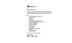 WHMIS – General Awareness Training Course Agenda