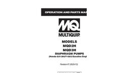 Model MQD2H - Diaphragm Pumps Brochure