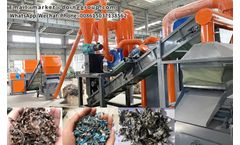 How does copper alumimun radiator recycling machine work?