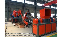 Copper aluminum radiator recycling machine