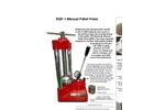 EQP-1 Manual Pellet Press - Brochure