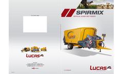 Spirmix Trampilla - Model 12 - 14 m³ - Mixer wagon - Vertical Auger Diet Feeder- Brochure