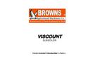 Viscount - Model MK5 - Moledrainer / Subsoiler- Brochure