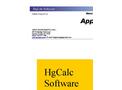 XC-6000 - HgCalc Software - Manual