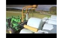 NEW Tanco 1400-V NEW - Winding at Top Speed; Bale Wrapping Video