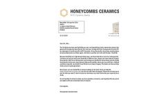Newsletter Quarter Q1 of 2014 Honeycombs Ceramics BV - Alstom Brochure