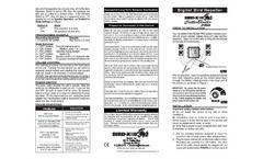 Model Critter Blaster PRO - Sonic Bird and Animal Repeller - Manual