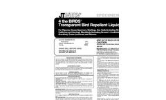 4 the Birds - Transparent Bird Repellent Liquid - Instructions Manual