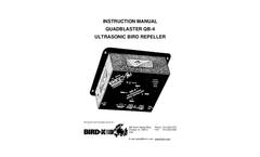 Quadblaster QB-4 Ultrasonic Bird Repeller - Instruction Manual