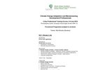 Climate Change Adaptation and Mainstreaming for Development Professionals - Brochure