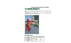 Tecnomeccanica - Model TFG 300L - Lift for Wood Moving Brochure
