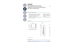 IST AG - Model MFS02 - MicroFlow Sensors for Gas Flow - Datasheet
