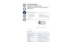 IST AG P14 FemtoCap Humidity Sensor for Automotive and White Good Applications - Data Sheet