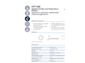 IST AG HYT 939 - Humidity Module for Medical and Drying Systems, Autoclaves, Pressure Dew Point Measurement and Laboratory Applications - Data Sheet