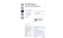 IST AG Thermo - Model P14 2FW - Capacitive Humidity Sensor Optimal for Dew Point Applications - Datasheet