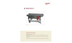 Delta Trio - Model XS/XM/XL/XXL - Sorting Table Brochure