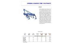 Model CM-LM - Spring Loaded Tine Tiller Cultivator Brochure
