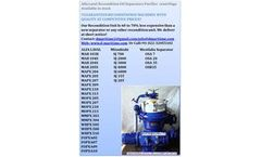 Alfa Laval - Model MOPX207  - Reconditioned Alfa Laval centrifuge for Marine diesel oil, Biodiesel, Lubricating oil, Distillate, Hydraulic oil, Removes Water & Sludge