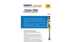 Fluke - Model 985 - Airborne Particle Counter Datasheet