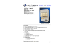 Lab Crafters Air Sentry V3 Low Flow Product Summary - Datasheet