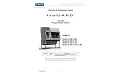 IsoGARD - Model Class III - Biological Safety Cabinet - Operation & Maintenance Manual