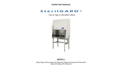 SterilGARD - Model e3 - Class II Type A2 - Biological Safety Cabinets - Manual