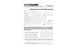 Fill out our Dredge Application form and automatically submit it to SRS Crisafulli